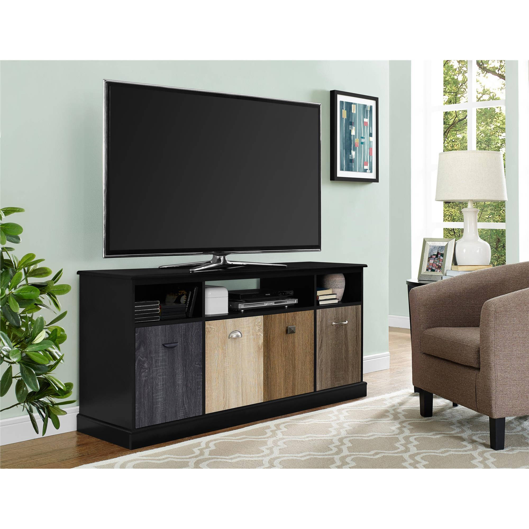"Altra Mercer 60"" TV Console with Multicolored Door Fronts, Multiple Colors"