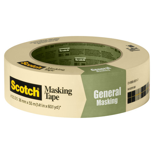 Scotch Greener Masking Tape for Basic Painting, 1.41 in x 60.1 yd (36 mm x 55 m)