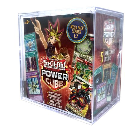 YUGIOH POWER CUBE 2- MEGA PACK SEEDED 1:2, PLUS OVER 65 CARDS ()
