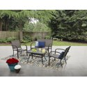Mainstays Woodland Hills 4-Piece Sling Patio Furniture Conversation Set