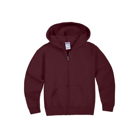 Quilted Hooded Zip Sweatshirt - Jerzees Mid-Weight Fleece Full-Zip Hooded Sweatshirt (Little Boys & Big Boys)