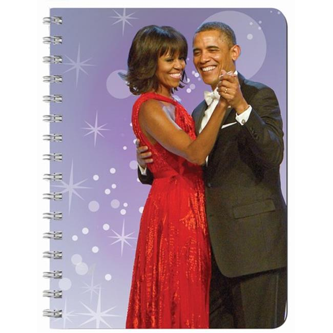 Shades of Color J024 The Obamas Journal, 5. 5 x 8. 5 Inches, 140 lined pages
