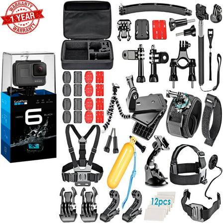 GoPro HERO6 Black w/ Accs Bundle Kit for Gopro HERO 6 5 4 3+ 3 2 1 Combo (Apc Bundle)