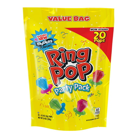 Double Lollipops - Ring Pop Assorted Lollipop Party Size, 10 Oz., 20 Count