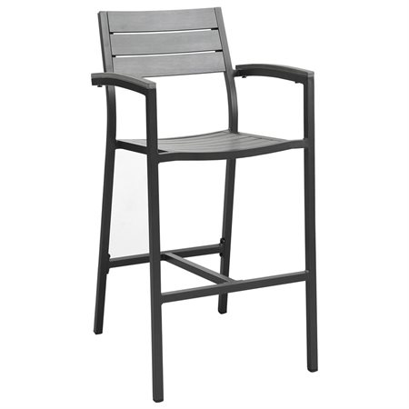 Maine Outdoor Barstool in Brown Gray