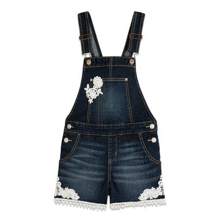 Jordache Girls 4-18 Embroidered Shortalls