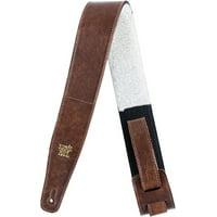 "2.5"" Adjustable Italian Leather W/ Fur Pad Guitar Strap"