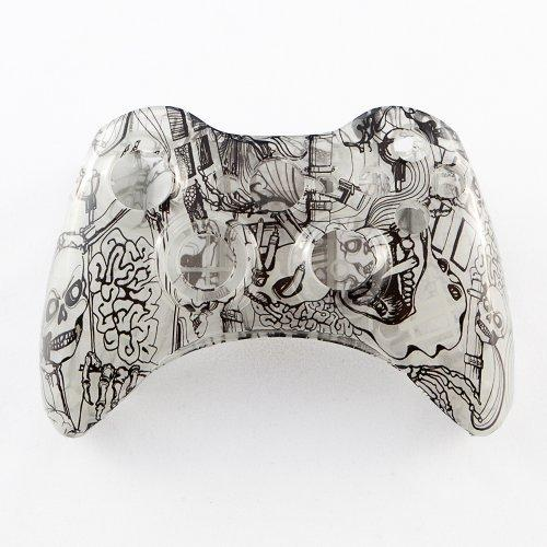 Clear Kooky Skulls Custom Controller Shell for XBOX 360