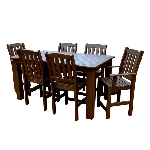 7-Pc Rectangle Dining Set in Toffee