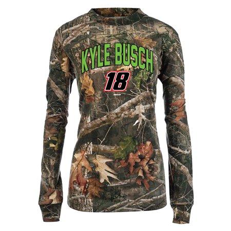 Kyle Busch Women's TrueTimber Long Sleeve T-Shirt - Camo