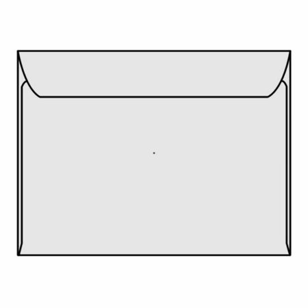 "Open Side Booklet Envelopes, 9"" x 12"", 28#, Gray Kraft, Side Seams (Box of 250)"