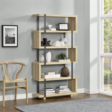 Better Homes & Gardens Galloway Bookcase, Brown Oak