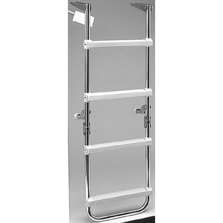 Garelick EEz-In 4-Step Pontoon Folding Deck Ladder