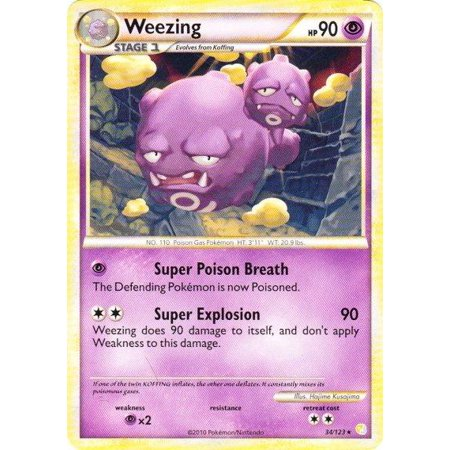 Pokemon HeartGold SoulSilver Weezing #34 (Pokemon Gold And Silver 2 In 1)