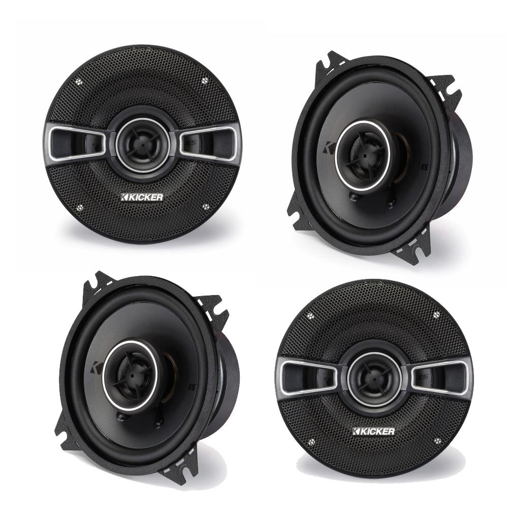 Kicker Speaker Bundle - Two pairs of Kicker 4 Inch KS-Series Speakers 41KSC44