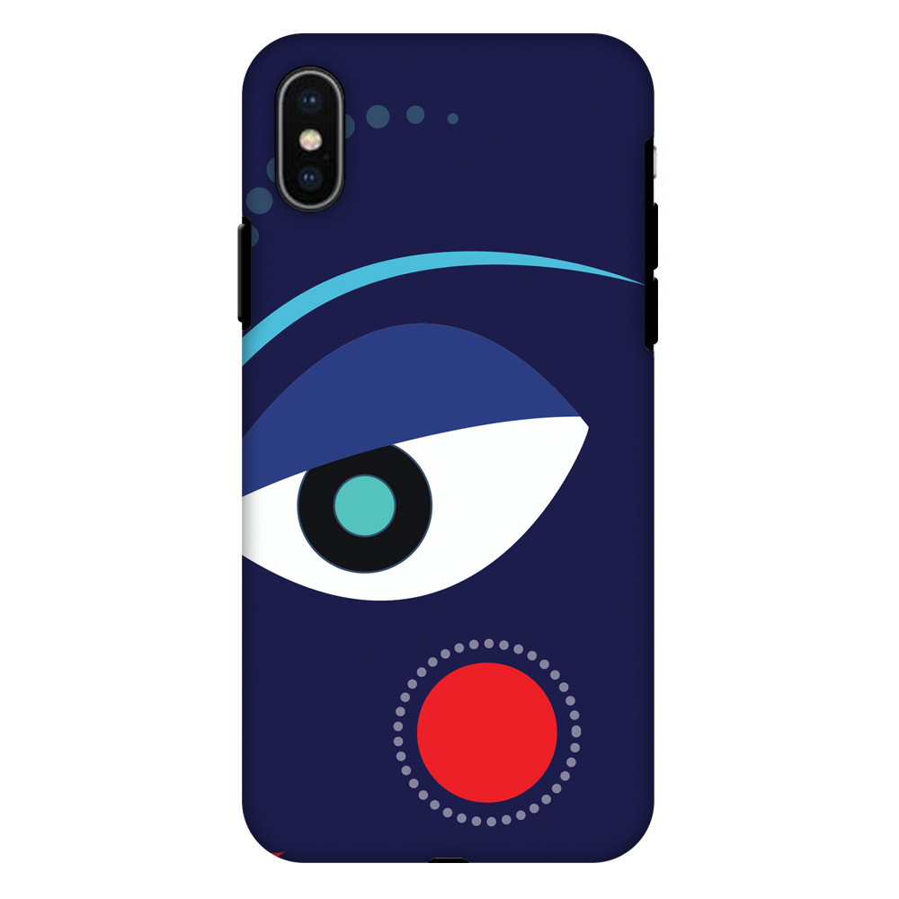 iPhone X Case, Premium Heavy Duty Dual Layer Handcrafted Designer Case ShockProof Protective Cover with Screen Cleaning Kit for iPhone X - Divine Goddess - Blue, Flexible TPU, Hard Shell