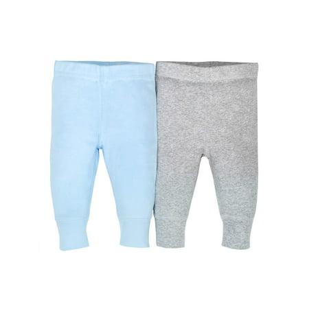 Gerber Newborn Baby Boy Organic Modern Cuff Active Pant, 2pk