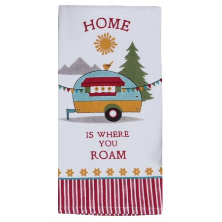 Kay Dee Camping Life Home is Where You Roam Camper Kitchen Terry Towel