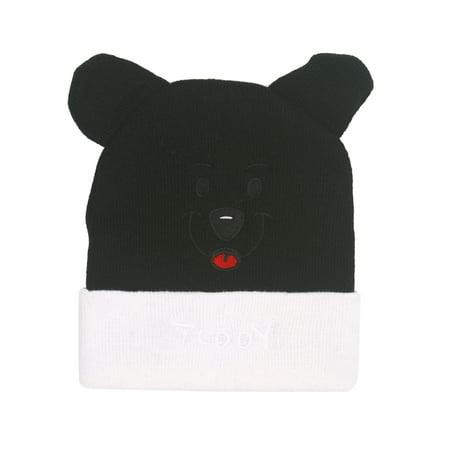 Cute Girls Boys Kids Cartoon Bear Knitted Warm Winter Hat Beanie Cap