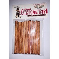 """Pure & Simple Pet 5"""" Rawhide Twists Dog Chews, Bacon Flavored, 10 Count"""