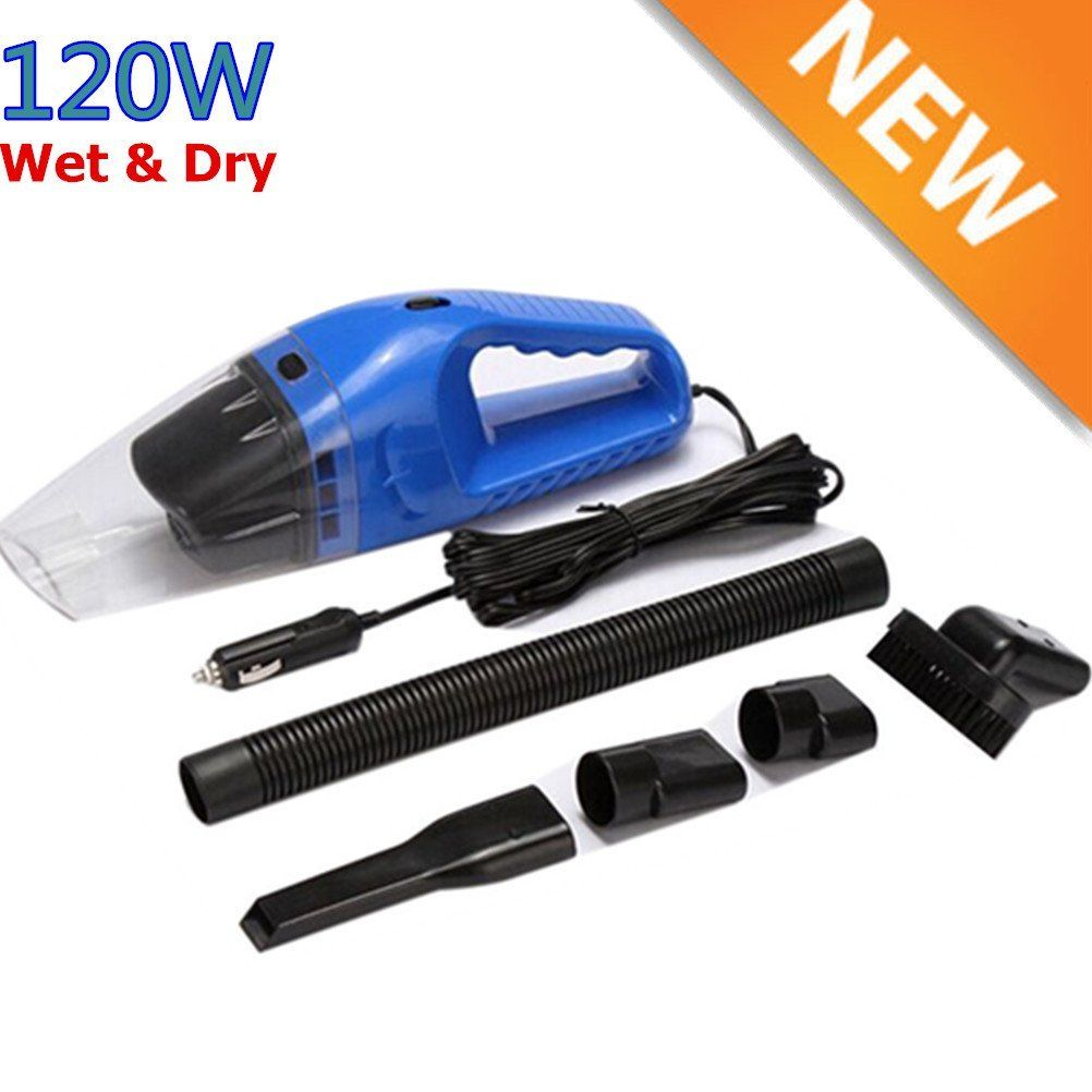 Blue Portable Super 12V 120W Vehicle Car Handheld Vacuum Dirt Cleaner Wet & Dry by OUTAD