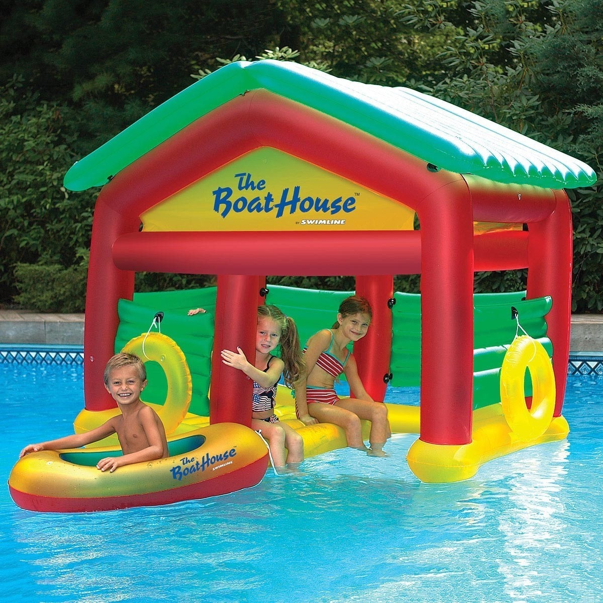 Swimline Boathouse Floating Habitat Inflatable for Swimming Pools by Overstock
