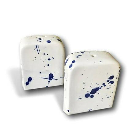 Kauri Handmade Modern Splatter Ceramic Salt and Pepper