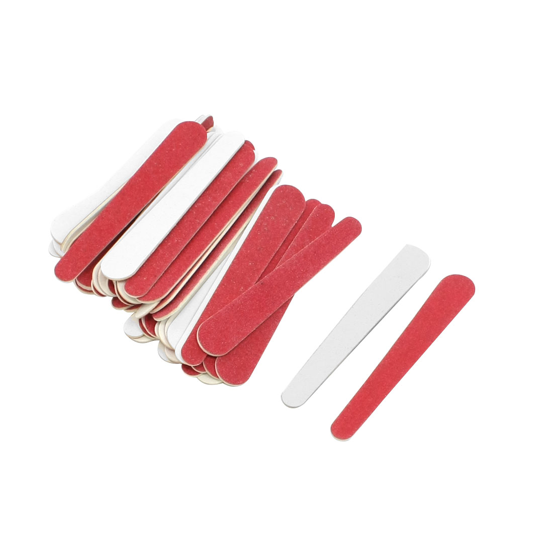 Nail File Buffer Beauty Tool Finger Trimmer Red 50 Pcs for Lady