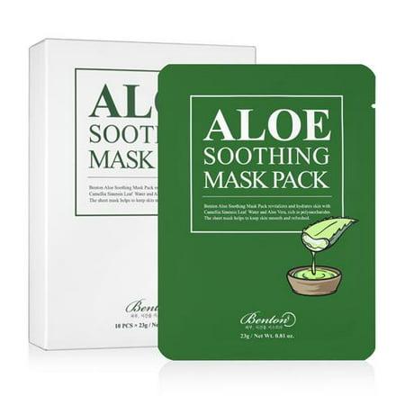BENTON  Aloe Soothing Mask Pack 10 Sheets