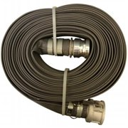 Goodyear A008-0487-3550 Goodyear Grey PVC Discharge Hose Male X Female - CXE - Camlocks-Gray