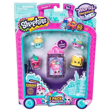 Shopkins Series 8 Wave 1, 5 Pack Only $2.99