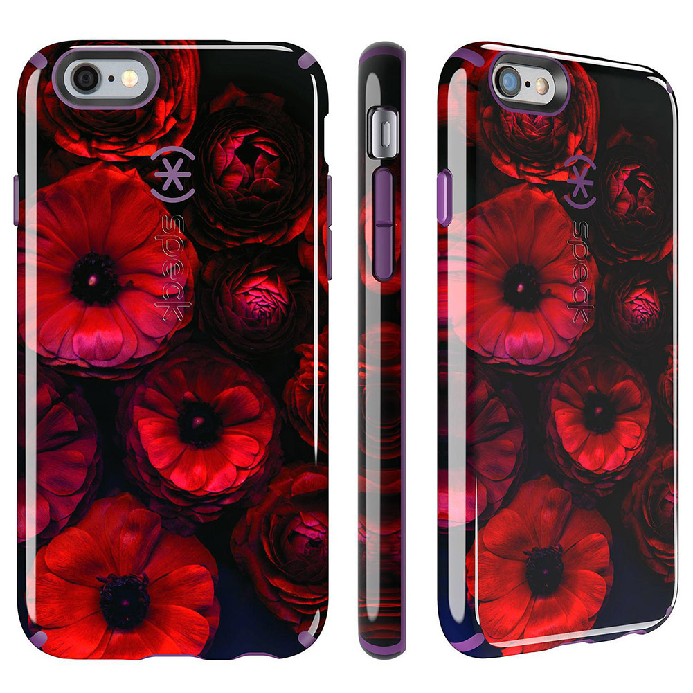 Speck CandyShell Inked iPhone 6s & iPhone 6 Case, Moody Bloom/Acai Purple