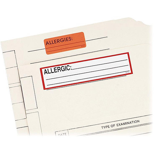 Redi-Tag Allergic Permanent Adhesive Medi-Labels