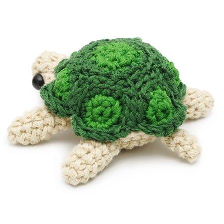 Cream-Green Turtle Handmade Amigurumi Stuffed Toy Knit Crochet Doll VAC