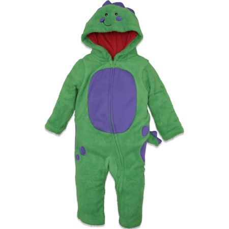 Funstuff Toddler Boys' Plush Fleece Dinosaur Costume Coverall with Hood - Cowboy Costume Toddler Boy