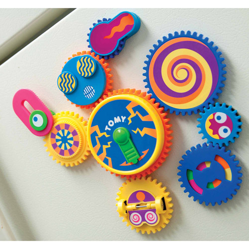 Tomy Toomies Gearation Refrigerator Magnets, Fridge Magnets, 3+ by TOMY