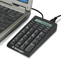 Notebook Keypad/Calculator with USB Hub, 19-Key Pad 72274, 3-in-1 design: use as a fully functional calculator or a 19-key pad for data entry or a USB hub By Kensington