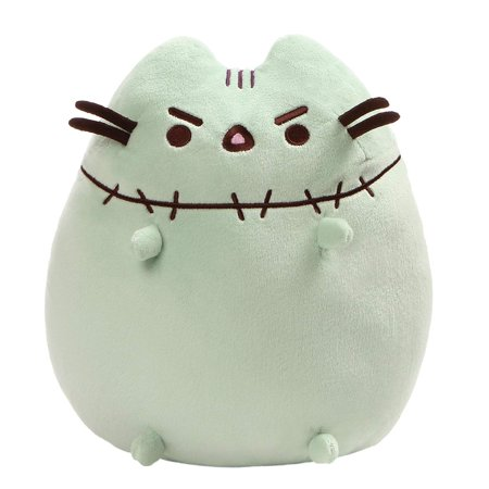 GUND Pusheen Zombie Halloween Cat Plush Stuffed Animal, Green, 9.5