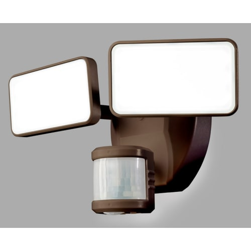 "Heath Zenith HZ-5869 2 Light 10-25/32"" Wide Integrated LED Outdoor Dual Head Flood Light - Motion Sensor Activated"