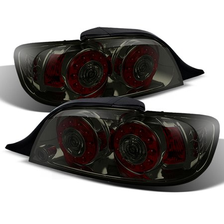 Fit Smoked 04-08 Mazda RX8 RX-8 JDM Dual Round LED Tail Light Brake Signal Lamp