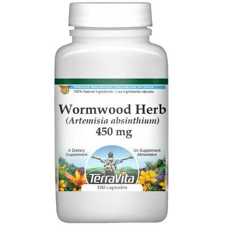 Wormwood Herb (Artemisia absinthium) - 450 mg (100 capsules, ZIN: 510990)