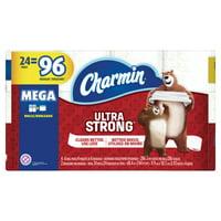 Charmin Ultra Strong Toilet Paper 24 Mega Roll = 96 Regular Rolls