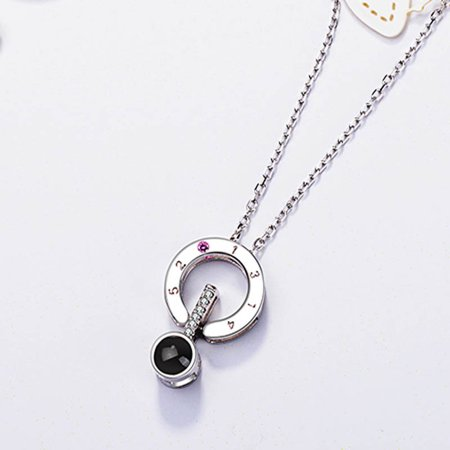 Necklace Chain 100 Languages I Love You Projection Pendant Romantic Wedding Gift Jewelry