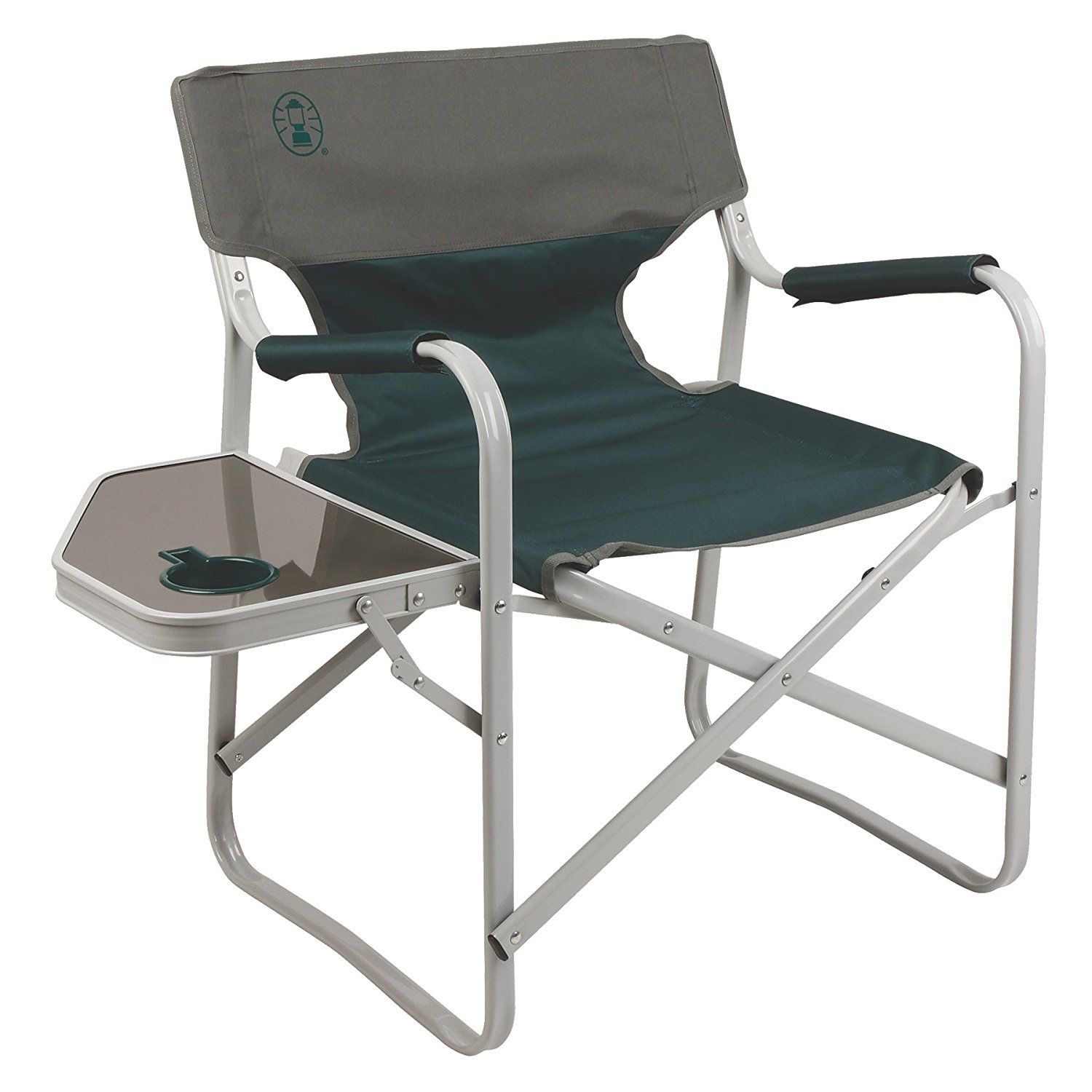 Coleman Outpost Breeze Portable Folding Deck Chair with Side Table by COLEMAN