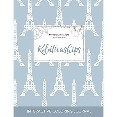 Adult Coloring Journal: Relationships (Mythical Illustrations, Eiffel Tower) - image 1 of 1