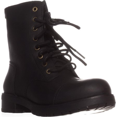 Womens UGG Australia Kilmer Combat Boots, Black Leather ()