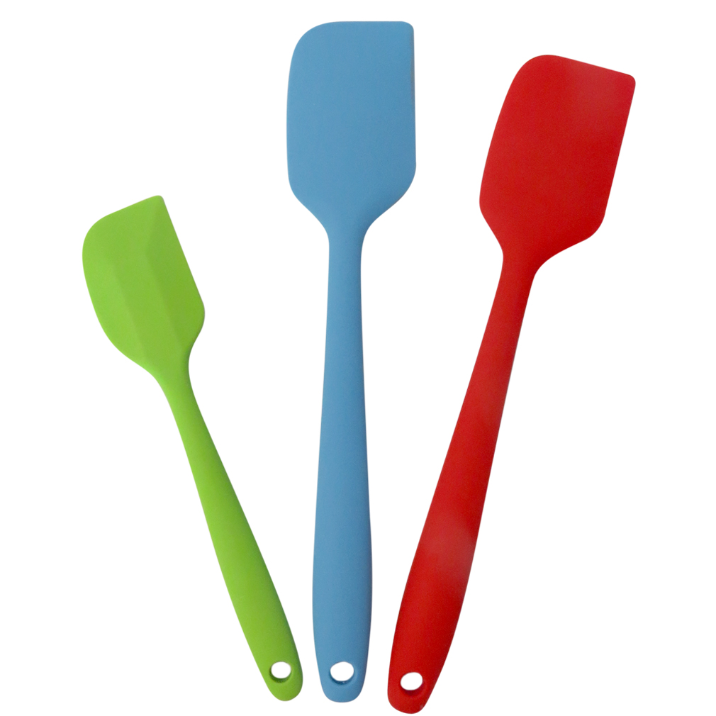 Evelots 3 Silicone Spatula Set, Heat Resistant Cooking Utensils, Multicolor