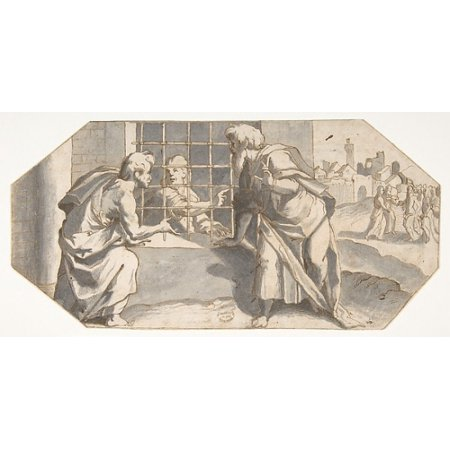 "Saint John the Baptist in Prison Sends His Disciples to Question Jesus Poster Print by Ermenegildo Lodi (Italian Cremona 1598  ""1616) (18 x 24) ()"
