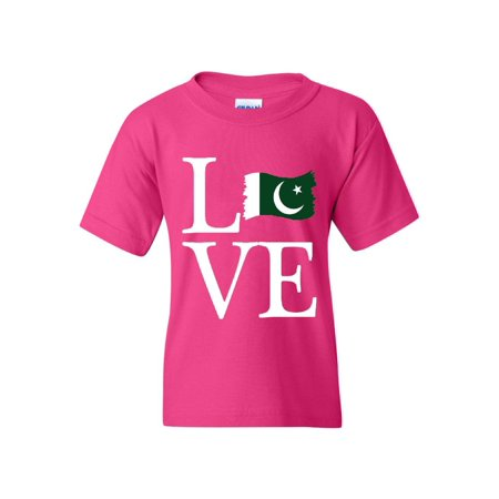Love Pakistan Unisex Youth Shirts T-Shirt Tee