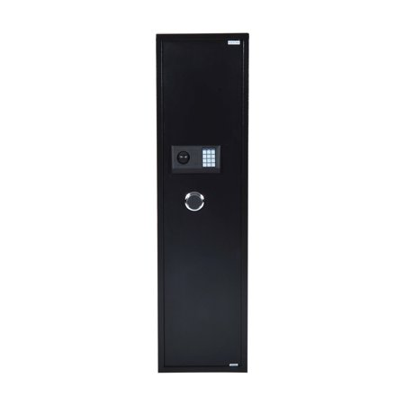 HomCom 56 5 Rifle Steel Electronic Gun Safe Cabinet - Black